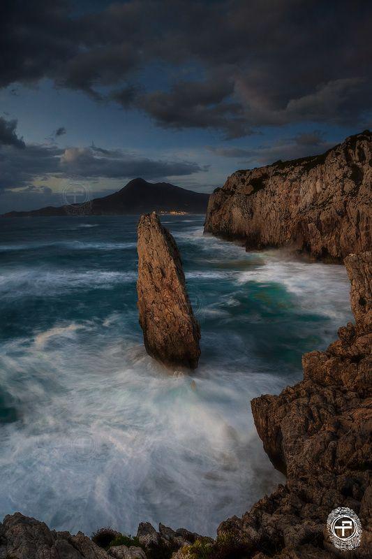 HYFilters, Buggerru, rocls, sea, sardinia The Last Lightphoto preview
