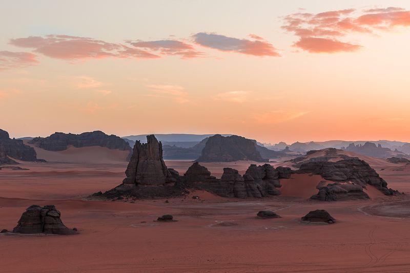 алжир, сахара, тадрарт, пустыня, песок, закат Tadrartphoto preview