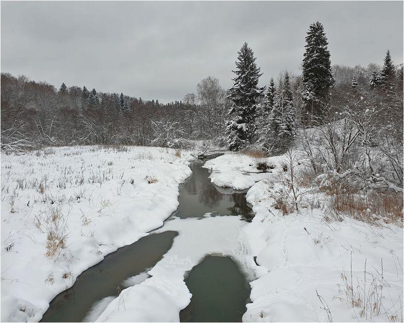 река, деревья, пейзаж, проталины Областной пейзажphoto preview
