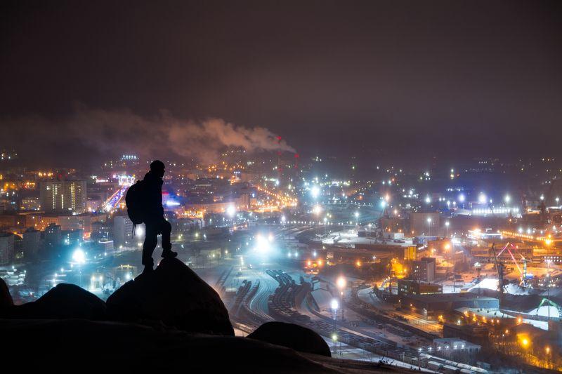 ночь туман россия мурманск порт город Городской исследовательphoto preview