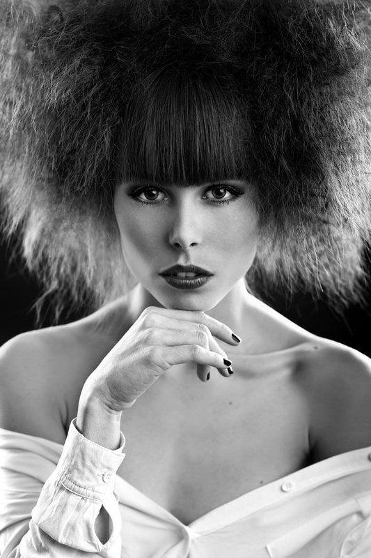 portrait, woman, model, studio, hair, beauty ...photo preview