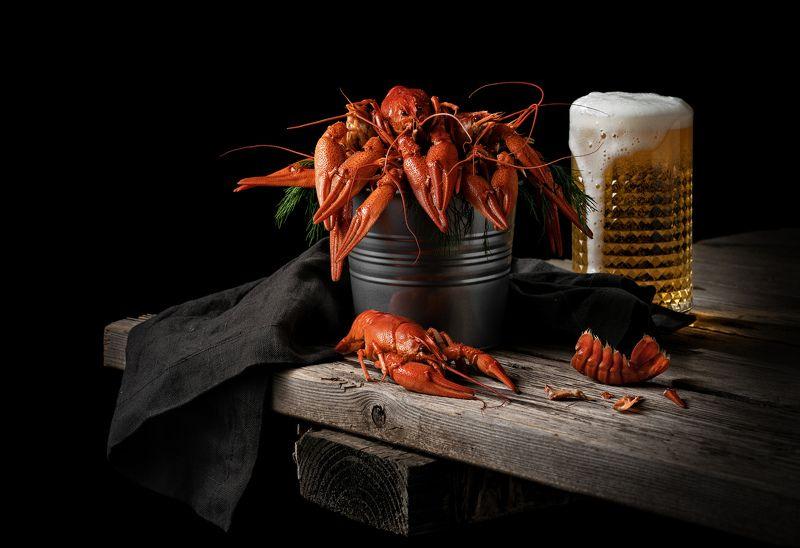 раки  пиво  рустик Раки с пивомphoto preview
