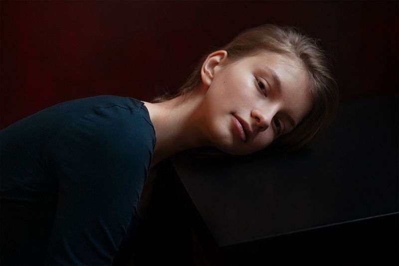 портрет, ключенков, лебедь, свет Машаphoto preview