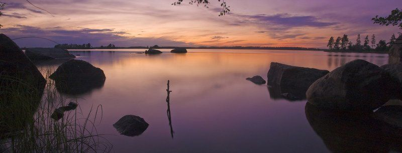 вуокса, озеро, закат, вечер Не спитсяphoto preview