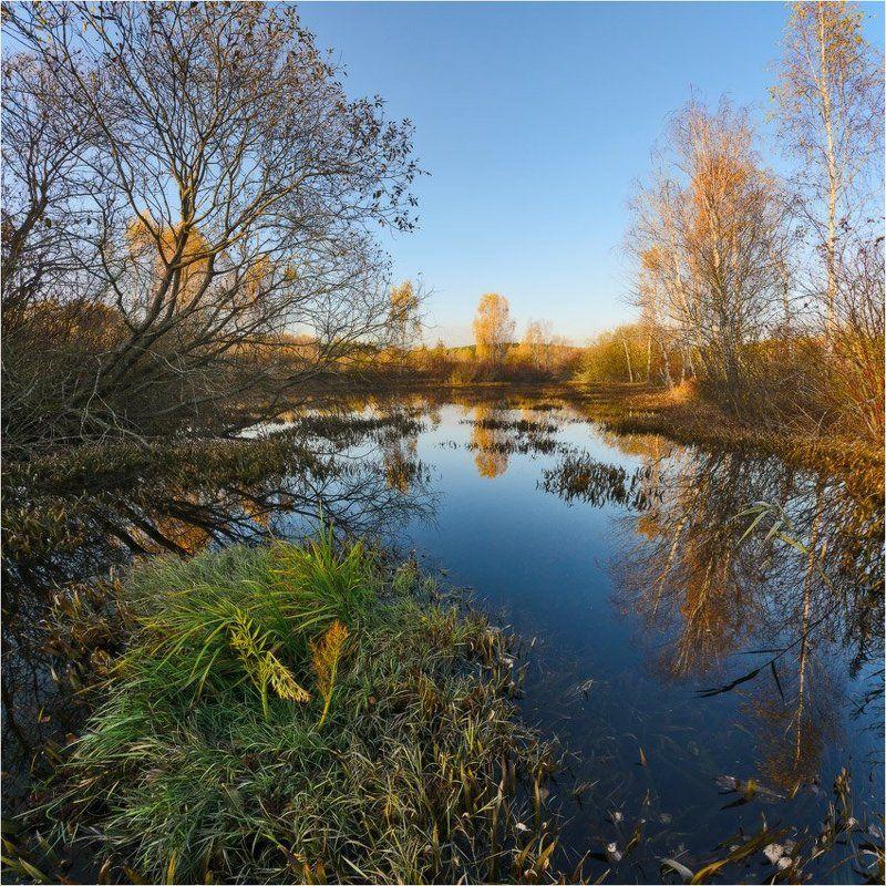 озеро, осень, небо *photo preview