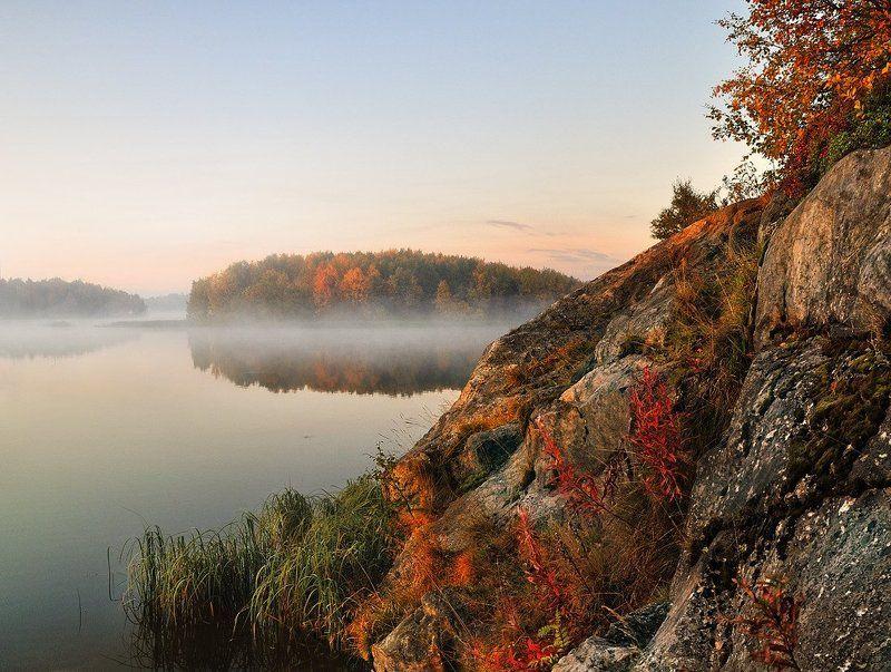 озеро, утро Где-то в конце лета...photo preview