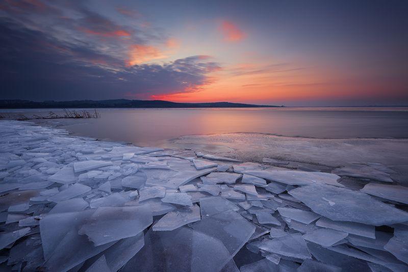 lake, frozen, winter, landscape, sky, sunset Frozen Lakephoto preview