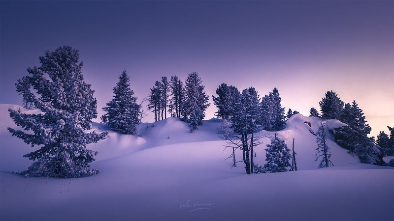 Снежные узоры гор Алтая. Семинский перевалphoto preview