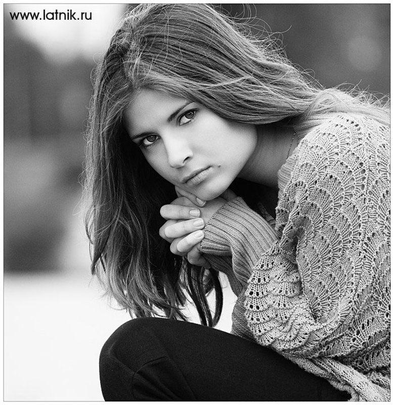 девушка, фото, портрет, черно-белое ***photo preview
