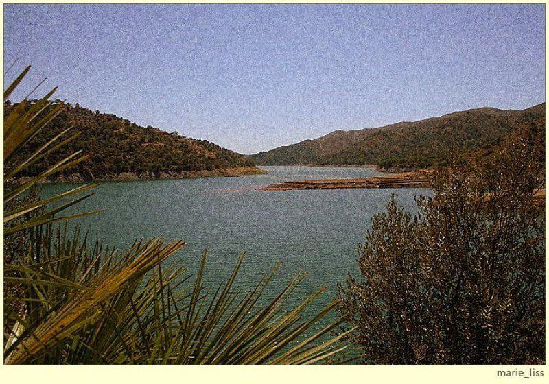пейзаж, озеро, испания, истан, andalucia, spain, istan photo preview