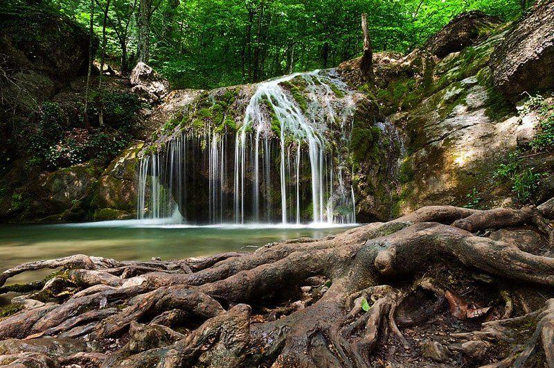 крым, водопад, камни Немного Крымаphoto preview
