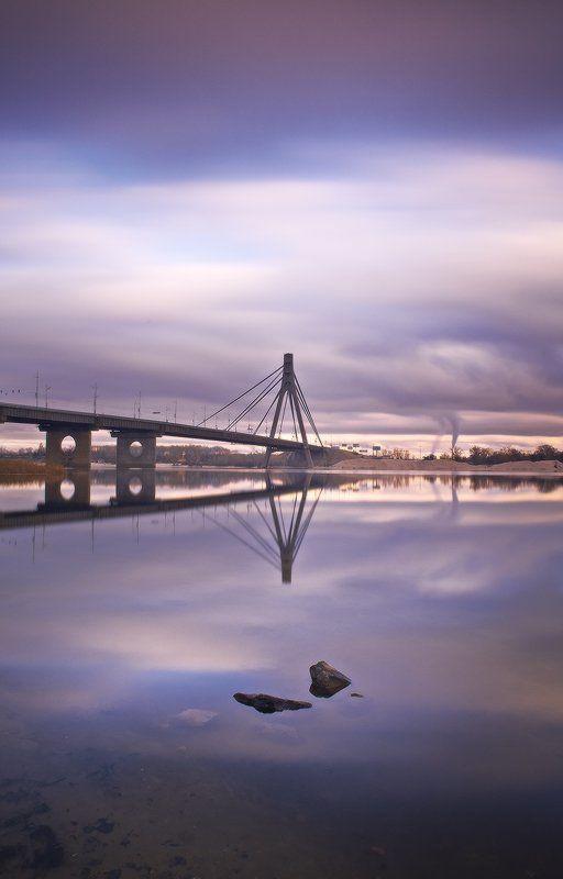 московский мост,киев один вечер у Московского моста ...photo preview