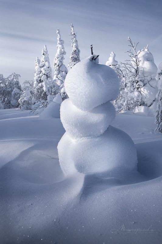 зима, гух, снеговик, снег, пейзаж Снежная нимфаphoto preview