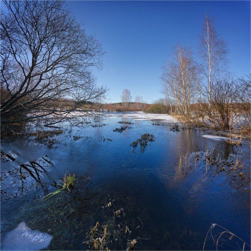 озеро, зима, небо, лед *photo preview