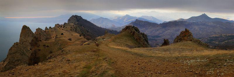 крым, зима, , море, горы Теплый январский  Карадагphoto preview