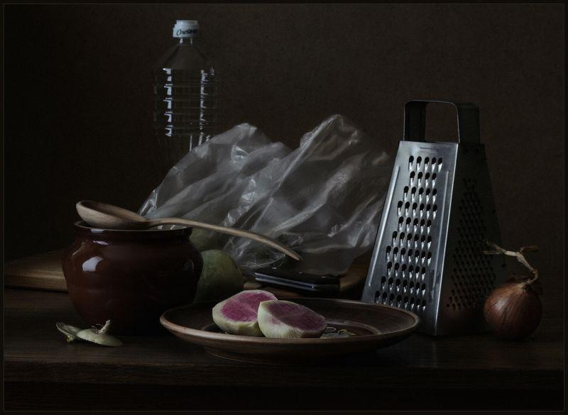 натюрморт, still life, редька ... с редькойphoto preview