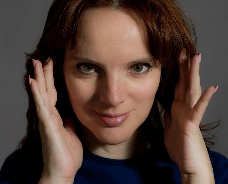 портрет, студия, женщина, взгляд, глаза, модель Юля photo preview