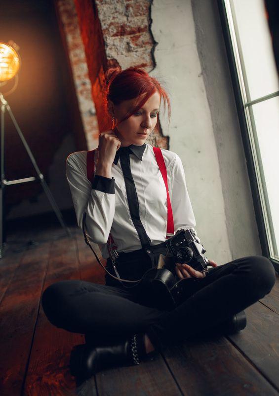 девушка, портрет, фотография, винтаж The photographerphoto preview