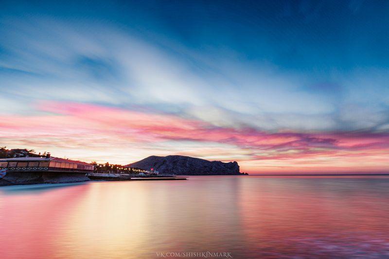 красота, природа, пейзаж, рассвет, закат, облака, небо, Крым \