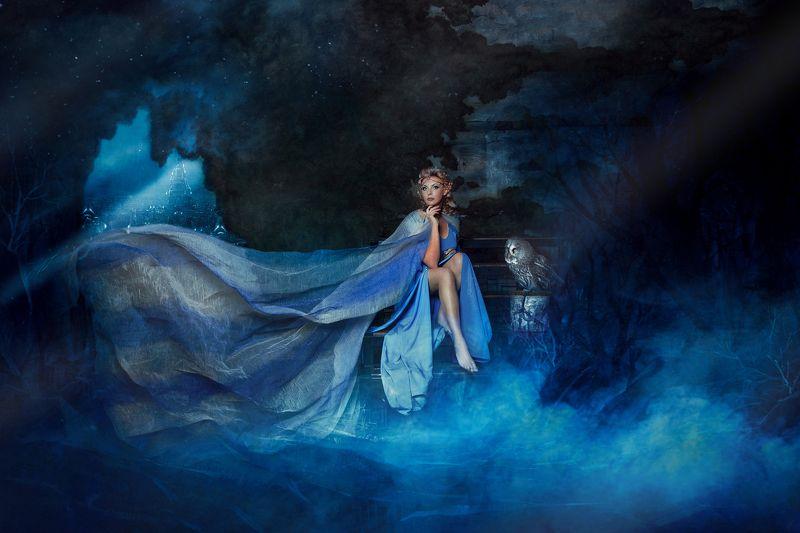 эльф сказка художественноефото фотошоп абстракция синееплатье свет тордуа Сказочный мир Эльфовphoto preview