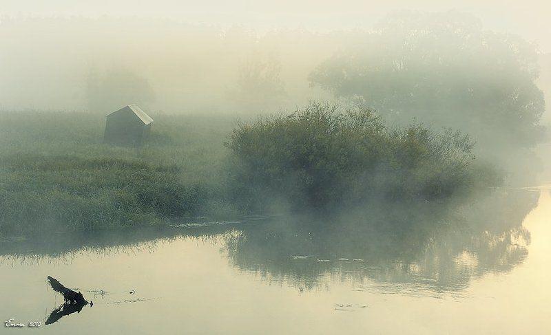 туман, утро, природа, река Туман над Ворей.photo preview