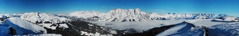 альпы, австрия, заальбах Альпийская панорамаphoto preview