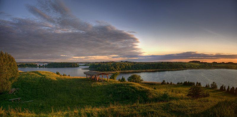 браслав, озеро, закат Место успокоения и равновесияphoto preview