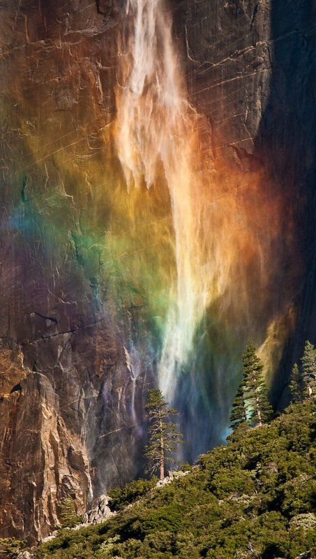 водопад, утро, радуга ***photo preview