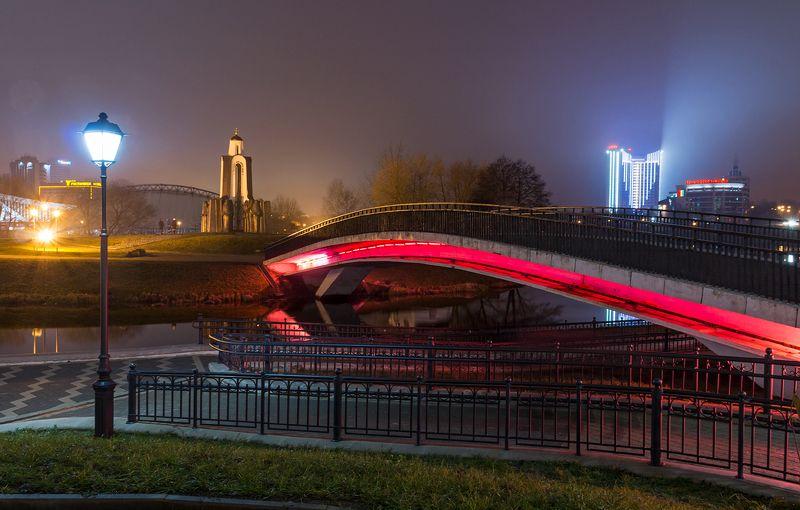 город, минск, мост Краски вечернего Минскаphoto preview