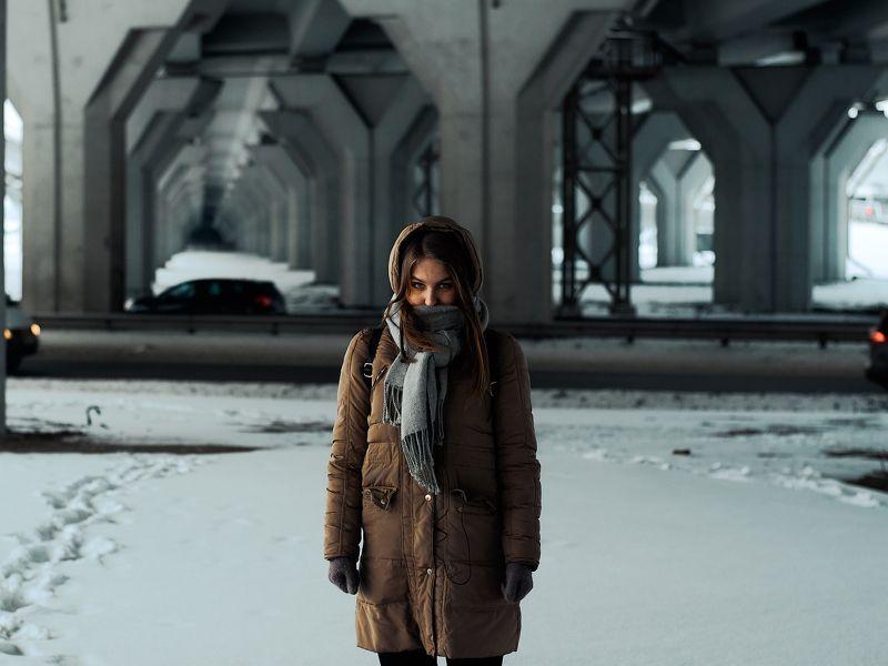 портрет, Шушары, зима,  Настя вне зоны безопасности.photo preview