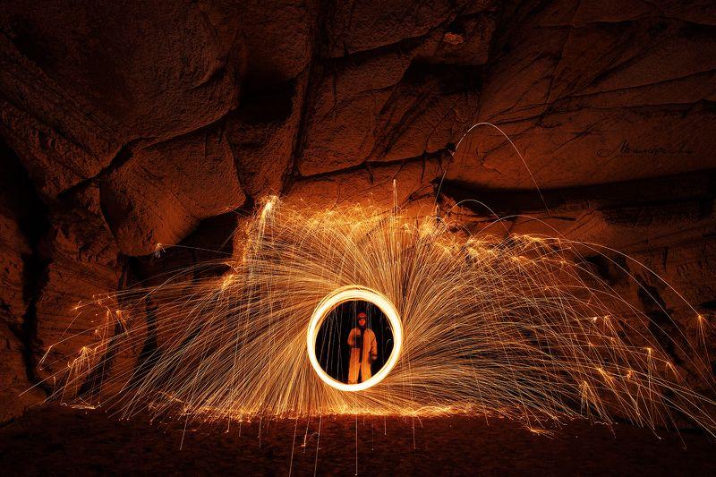 пещера, фризлайт, огонь, Урал Порталphoto preview