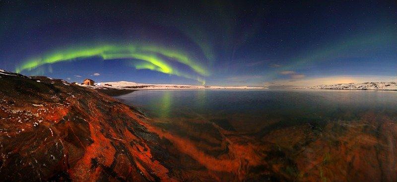 тундра, север, побережье, полярное сияние, гранит, берег Песнь льда и пламениphoto preview