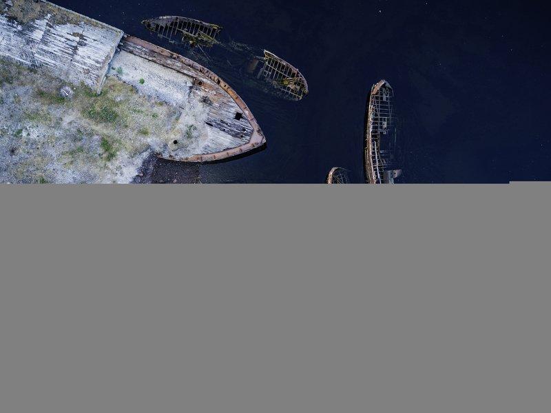 мурманск, териберка, dji Кладбище кораблей фото превью