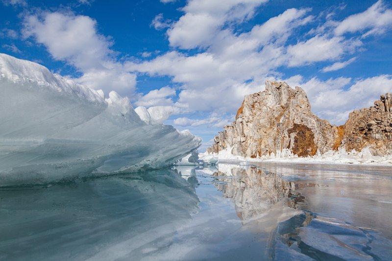 байкал ольхон пейзаж зима лед озеро baikal olkhon landscape winter lake Зимний Байкалphoto preview
