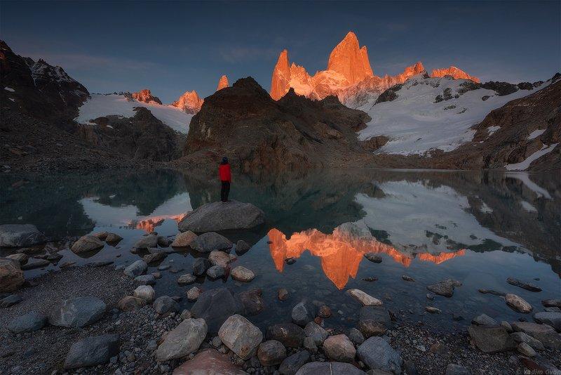 патагония, фицрой, patagonia, fitzroy Первый рассвет под Фицроемphoto preview