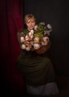 Дама с цветами...