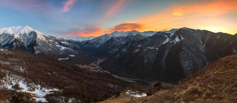 кчр, архзыз,горы ,кавказ,закат Архыз ...photo preview