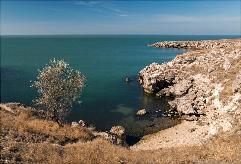 бухта, море, берег, крым Крымская бухтаphoto preview