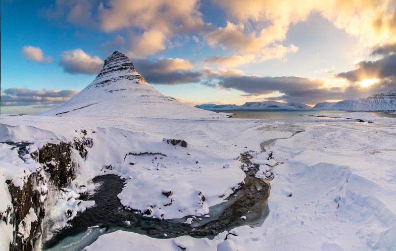 исландия, рассвет, океан, Зима близко...photo preview