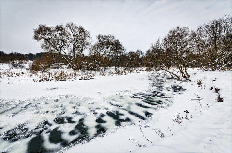 зима, мороз, река, деревья, снег, февраль *photo preview