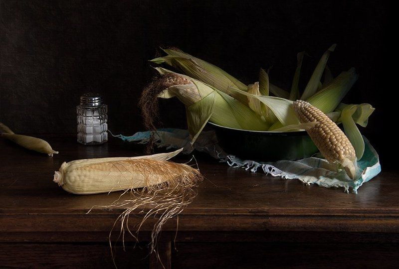 кукуруза, соль, натюрморт, елена алимова Кукурузныйphoto preview