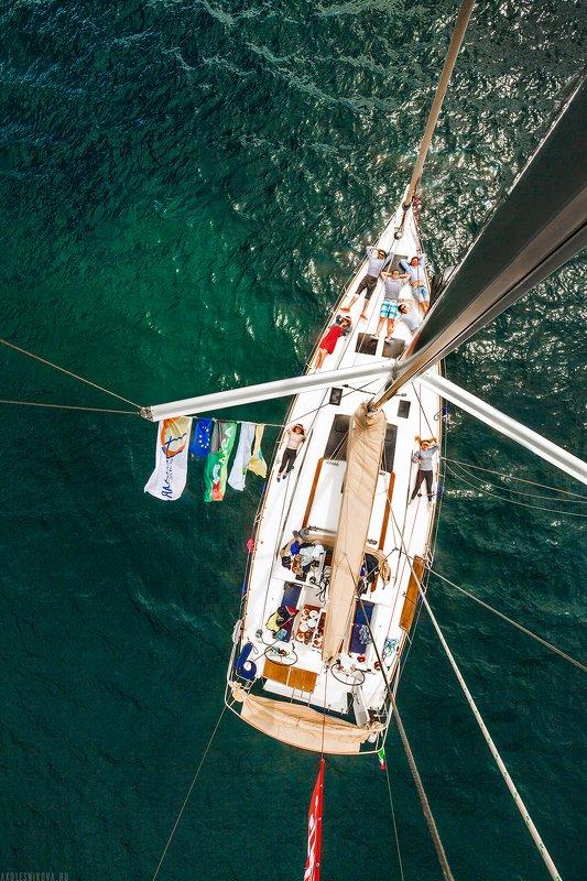 яхтинг, яхта, италия, путешествие, спорт, аэросъемка, лето, море С высоты птичьего полетаphoto preview