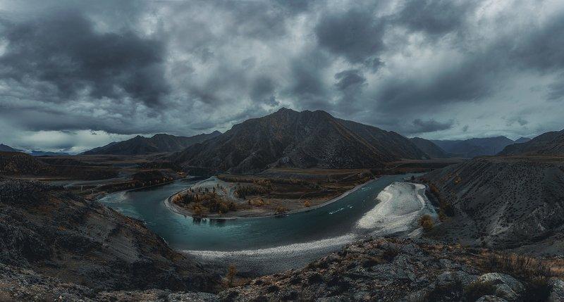 алтай, облака, горы, осень photo preview