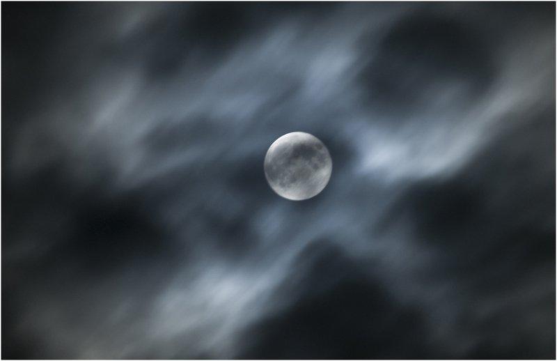 ночь небо луна Полнолуниеphoto preview