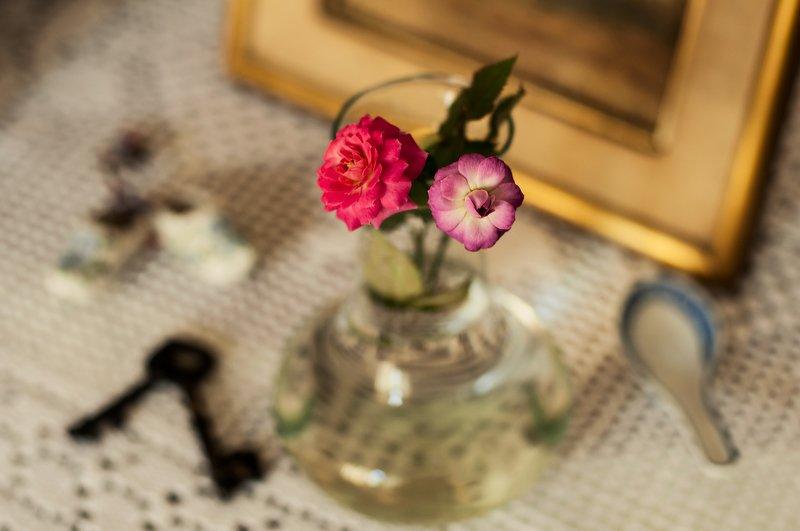 Dos rosas en el florerophoto preview