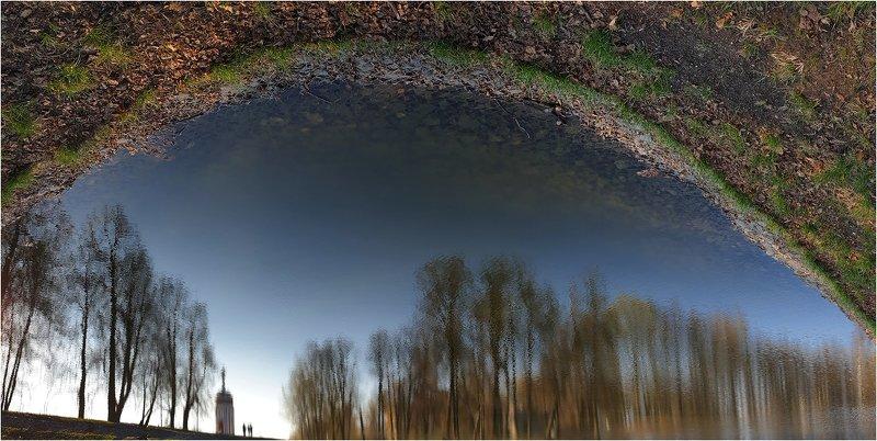 парк, пруд, отражение, купальня Под куполом весныphoto preview