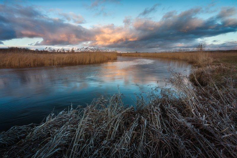 supraśl podlasie poland river spring clouds sky On the river bend...photo preview