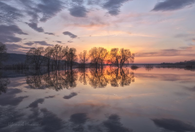 волга, апрель, закат ***photo preview
