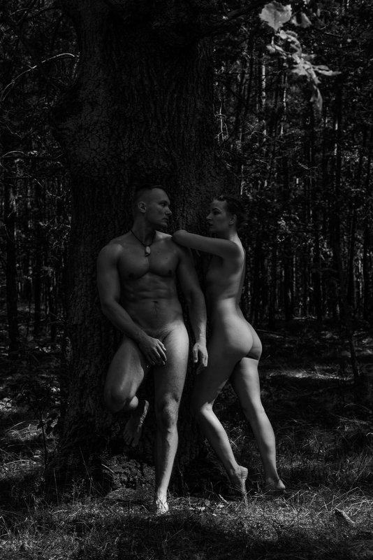girl, woman, арт, женщина, nude, ню, девушка, модель, model, man, человек под старым дубом | under old oakphoto preview