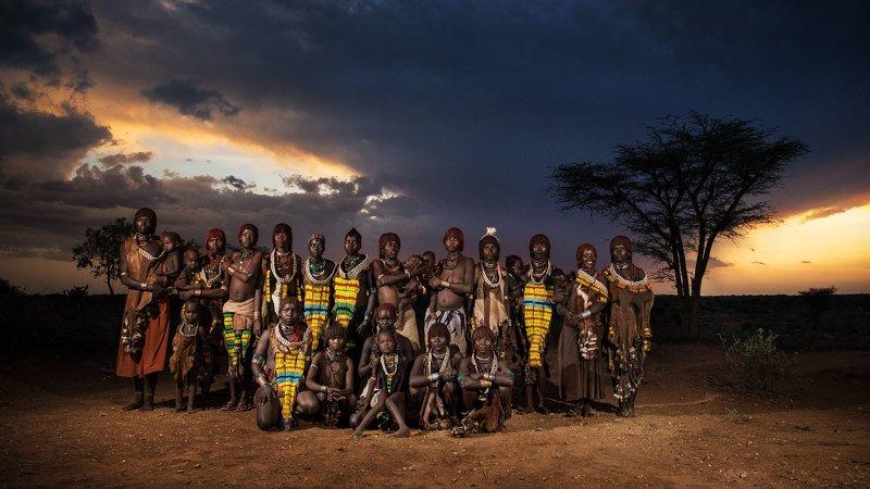хамер, эфиопия, африка Групповой портрет племени Хамерphoto preview